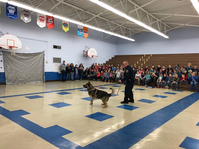 K9 Demo at Waverly Elementary School